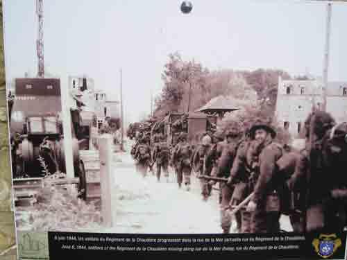 French Canadian Regiment de la Chaudiere in Bernieres - Juno Beach