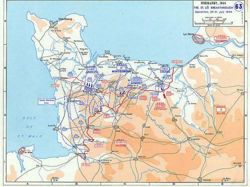 Operation Cobra - Saint-Lô breakthrough - Normandy invasion