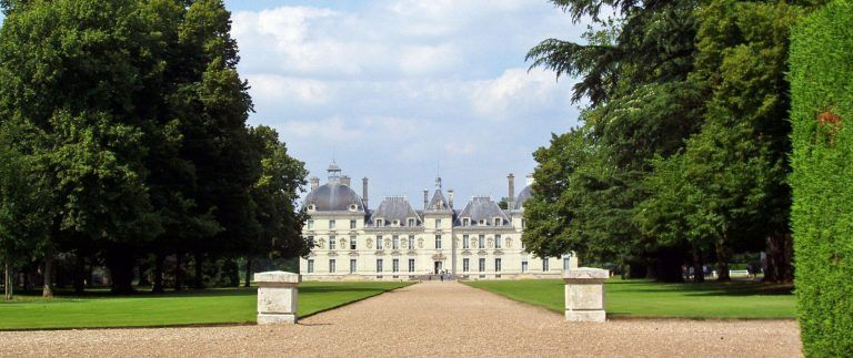 Chateau de Cheverny and cartoonist Herge