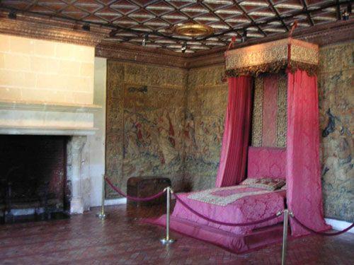 Chateau de Chenonceau - Chambre des Cinq Reines