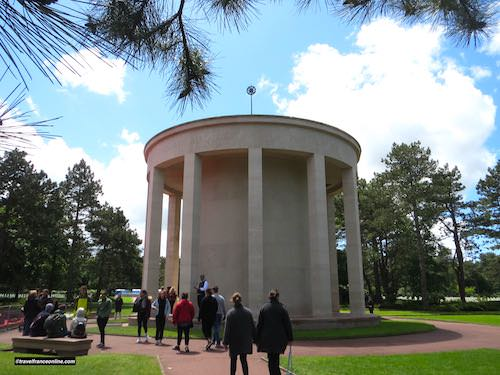 Colleville-sur-mer American Cemetery Chapel during D-Day 75th Anniversary
