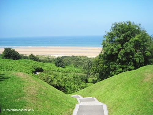 Colleville-sur-mer American Cemetery - One of the breaches leading to Omaha Beach