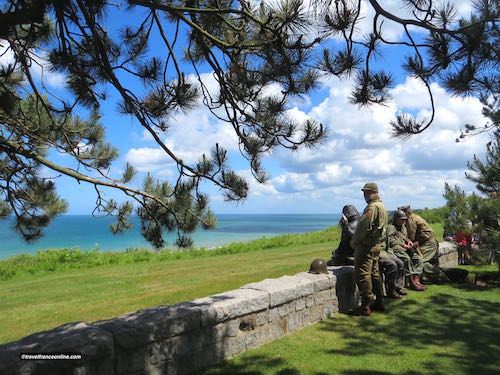 Colleville-sur-mer American Cemetery overlooking Omaha Beach on D-Day 75th Anniversary