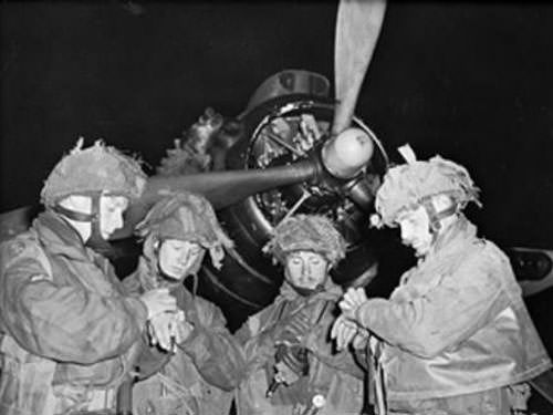 Operation Tonga - Pathfinders getting ready on D-Day