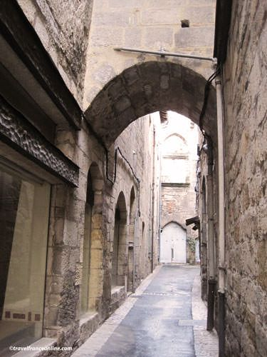 Medieval lane in Figeac