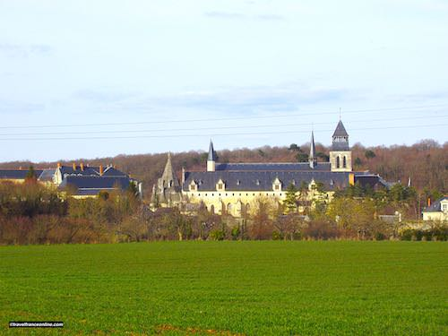 Fontevraud Abbey among the fields