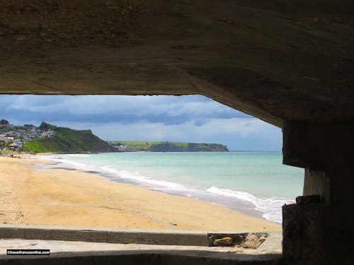 Gold Beach today seen frm a German bunker