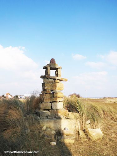 Inukshuk by the Juno Beach Center in Corseulles-sur-mer