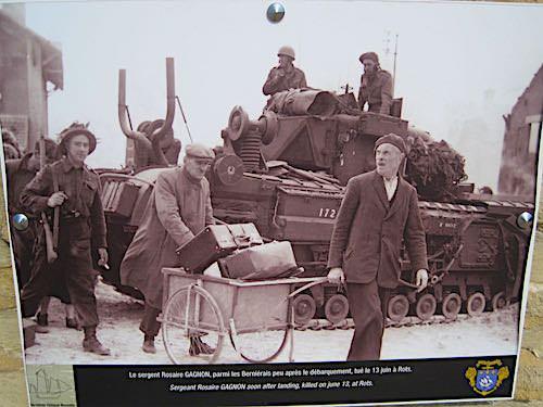Juno Beach - Sergeant Gagnon in liberated Bernières