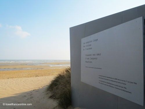 Breach on Juno Beach with poem by Verlaine