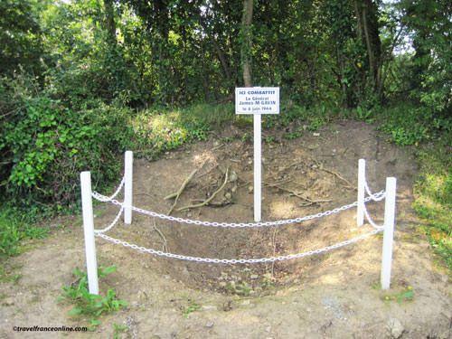 Gal Gavin's foxhole - La Fiere Memorial Park