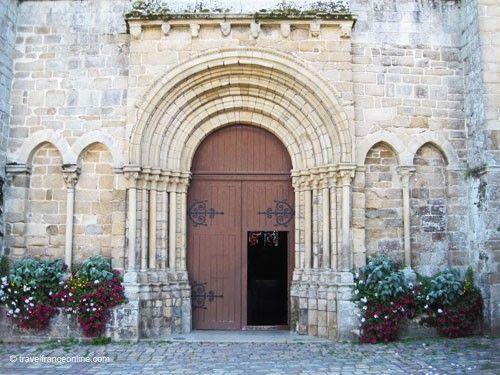 Abbaye Saint Magloire - Romanesque porch
