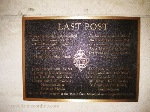 Menin Gate Memorial - Last Post commemorative plate