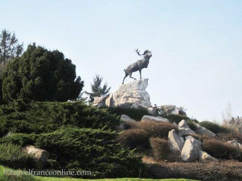Newfoundland Memorial Park - Solitary Caribou Memorial