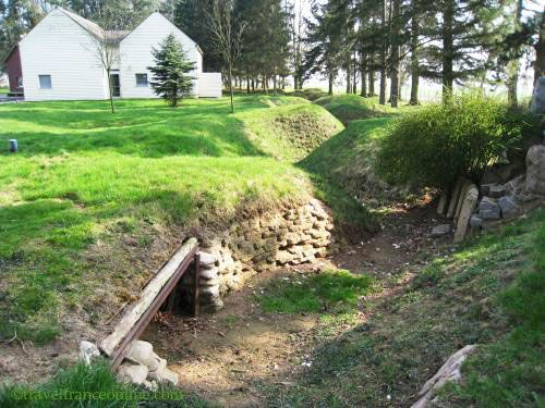 Newfoundland Memorial Park - Trenches and tunnel