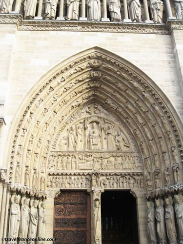 Notre Dame Cathedral - Portal of Sainte Anne