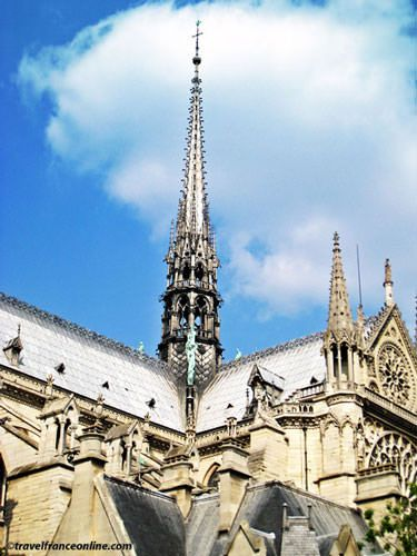 Notre Dame Cathedral The spire that was destroyed in the fire on 15 April 2019