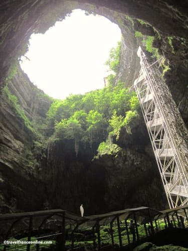 From the bottom of Padirac chasm
