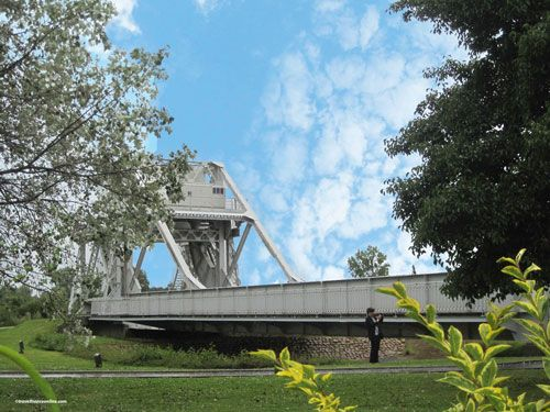 Original Pegasus Bridge in the museum