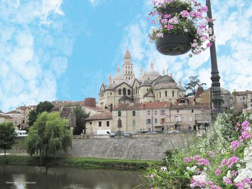 Saint Front Cathedral Perigueux - Seen from the south bank