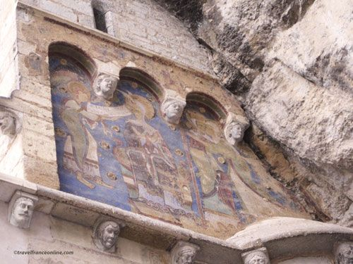 Chapelle St. Michel frescoes in Rocamadour