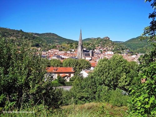 St Affrique and Rocher du Caylus