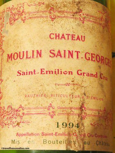 Saint-Emilion wines - Moulin Saint-Georges label 1994