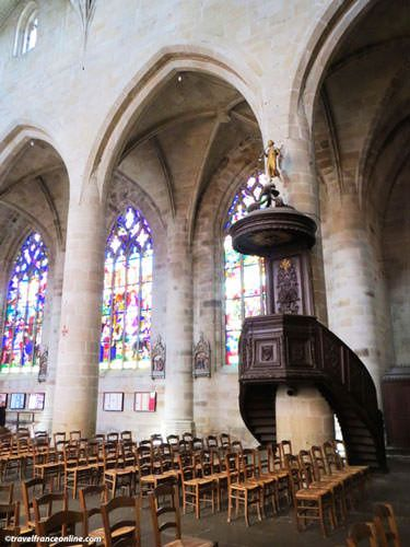 Saint Malo Church in Dinan - Listed pulpit