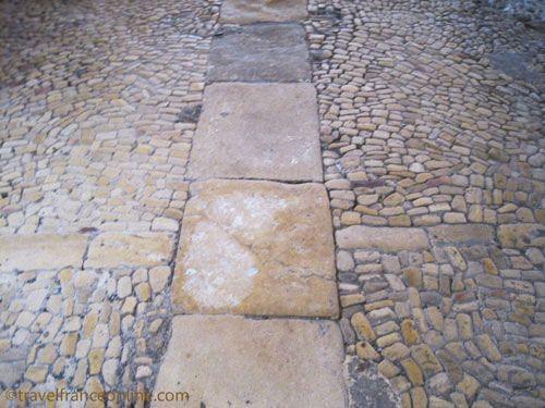 St Martin Chapel Limeuil - Original pise floor