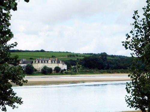 St Maur de Glanfeuil Abbey seen from La Ménitré