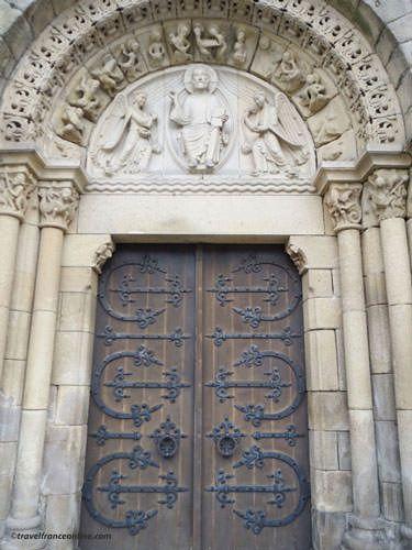 St Sauveur Basilica Romanesque porch