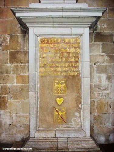 St Sauveur Basilica- Duguesclin' s (heart) tombstone