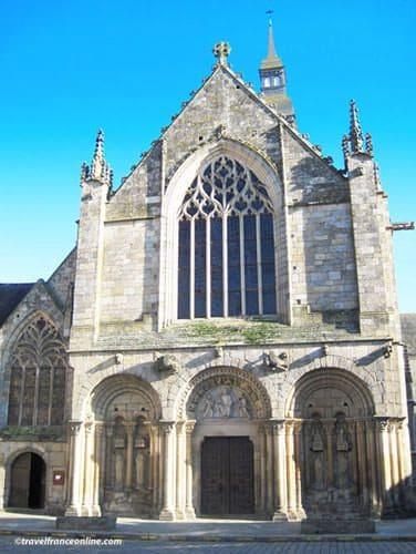St Sauveur Basilica Romanesque-Gothic facade