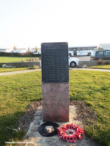 Memorial to 41st Royal Marine Commando in Lion-sur-mer
