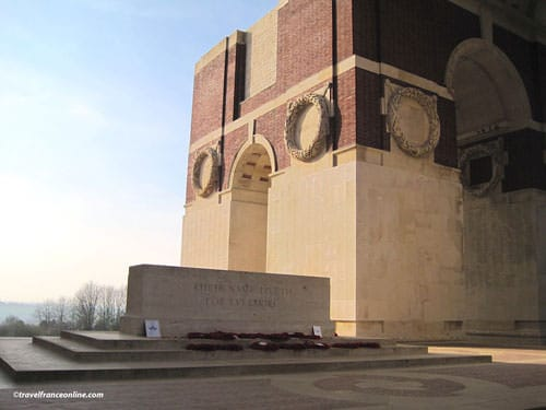 Thiepval Memorial to the Missing in the Somme - Stone of Remembrance