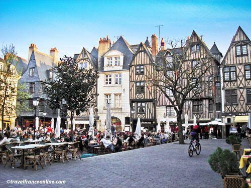 Medieval city of Tours - Place Plumereau