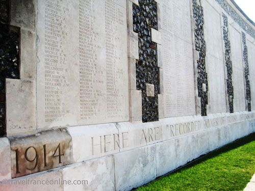 Tyne Cot Cemetery on Passchendaele Ridge - Memorial Wall to the Missing