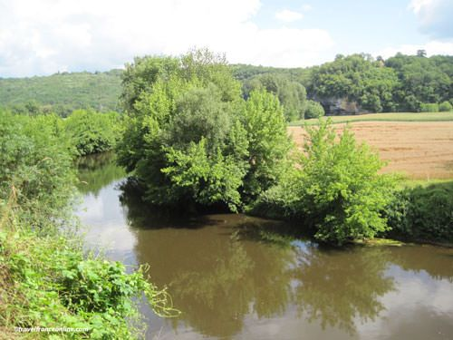 Vezere Valley - River seen from la Madeleine rock shelter