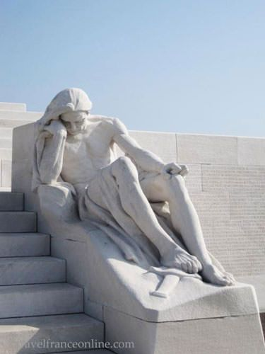 Vimy Ridge Canadian National Memorial - Mourning Father