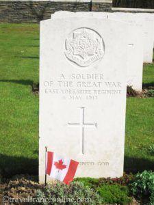 Vimy Ridge Canadian National Memorial Park - grave