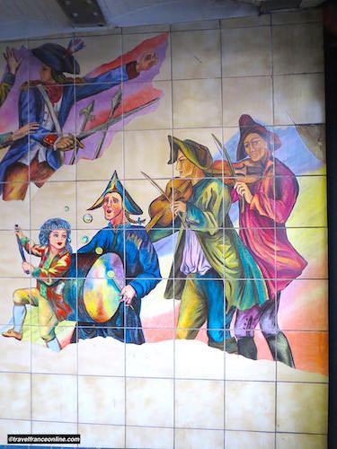 Bastille Metro station - The revolutionaries