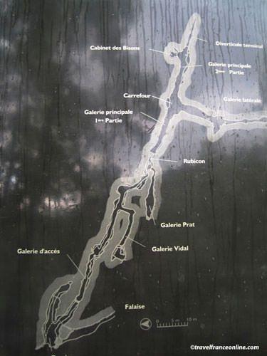 Font de Gaume map