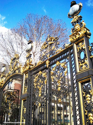 Parc Monceau - Wrough-iron gate on Bkv Malesherbes