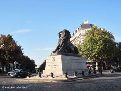 Lion de Belfort on Place Denfert Rochereau