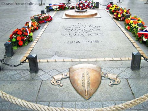 Unknown Soldier's grave under the Arc de Triomphe - Remembrance Day