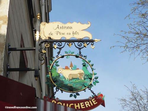 Shop signs in Paris - Butcher