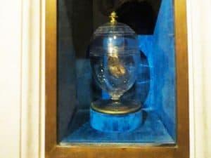 Mommified heart of Louis XVII in Saint Denis Basilique
