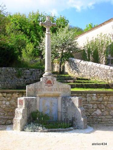 Blanc Brothers Letters - War Memorial in Sauliac-sur-Célé