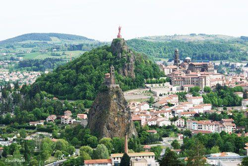 Le Puy en Velay - Notre-Dame de France, St-Michel d'Aiguille Chapel and St. Joseph statue