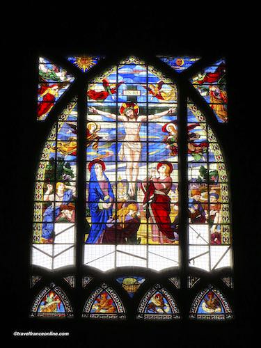 Saint Jean de Montmartre Church - stained-glass window